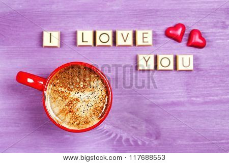 Coffee and chocolate sweets I LOVE YOU