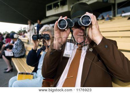 Binoculars At Racing