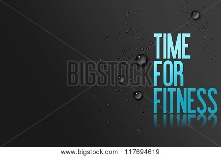 Ice Blue Text On Black Background - Template For Fitness Centre Website Or Advertising With Copy Spa