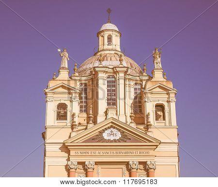 Church Of San Bernardino Meaning St Bernardine In Chieri Vintage