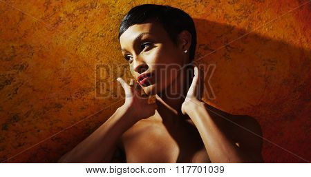 Young African Model Posing Nude