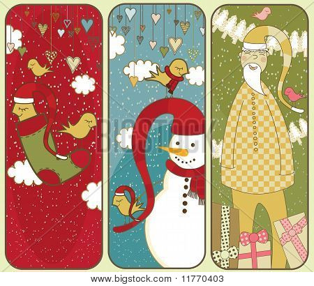 Set Of Colorful Christmas Banners