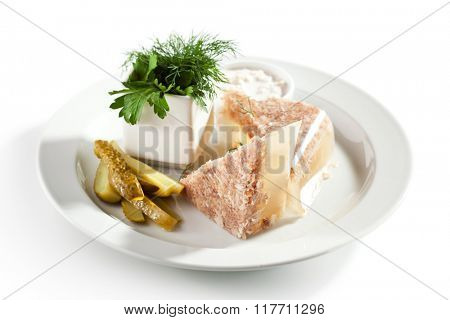 Meat Aspic with Herbs