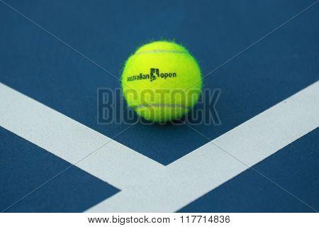 Wilson tennis ball with Australian Open logo