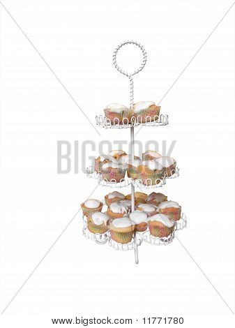 Tier Plate Stand With Cup Cakes