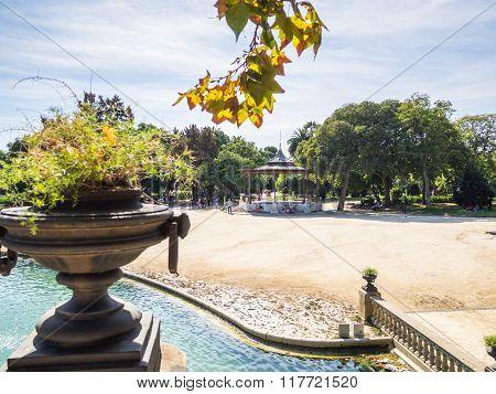 View Of The Ciutadella Park Bandstand