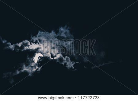 Dramatic moonscape