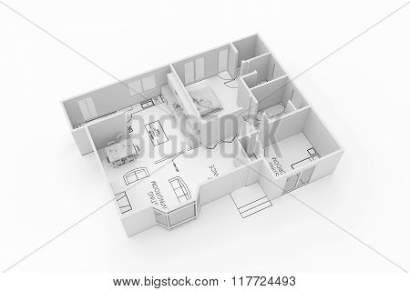 Architecture Plan Of A Residential House