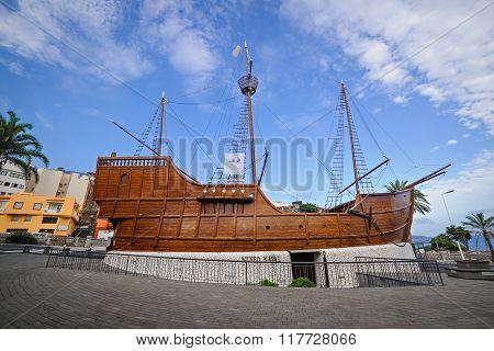 Santa Cruz De La Palma, Spain - January 16, 2016:  Maritime Museum In The Reconstructed Ship