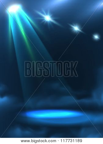 Blue Green Light Beam Background Banner