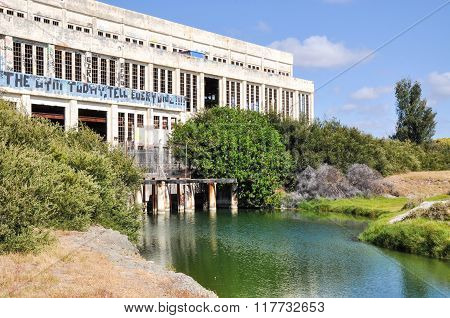 Old Power House with Pond