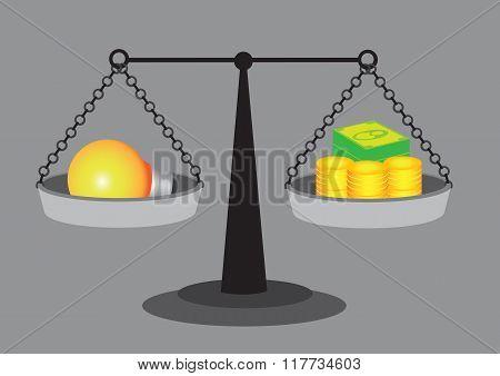 Value Of Good Idea Vector Illustration