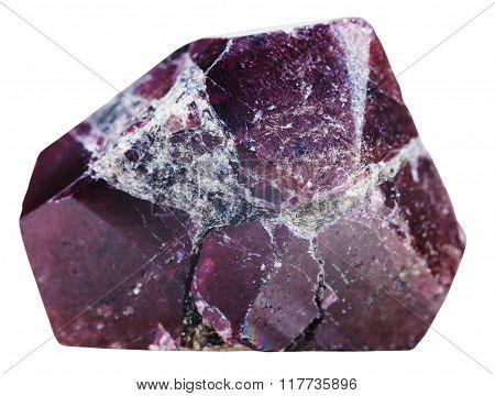 Crystal Of Garnet (almandine) Gemstone Isolated