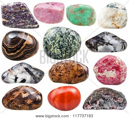 Collection Of Natural Mineral Tumbled Gemstones