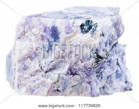 Charoite Crystalline Gemstone Isolated