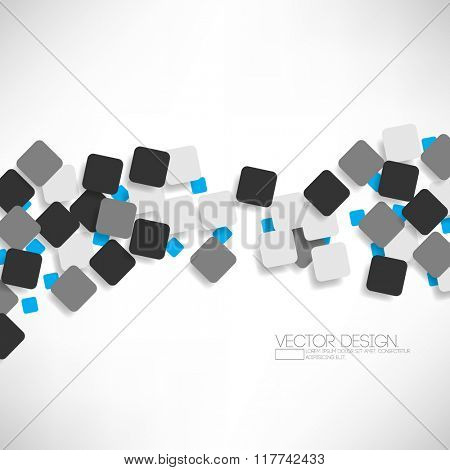 overlapping small geometric squares flat layout design