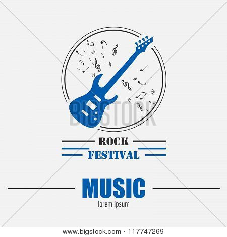 Musical instruments logo and badges. Graphic template