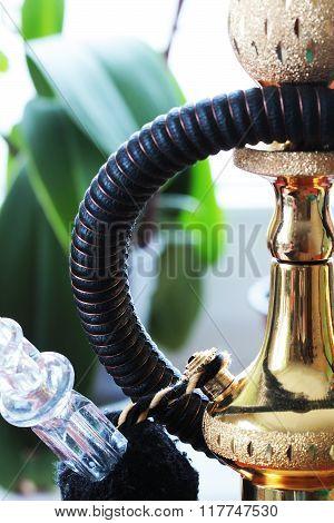 Hookah shisha for smoking close up photo