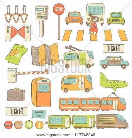 Transport objects set