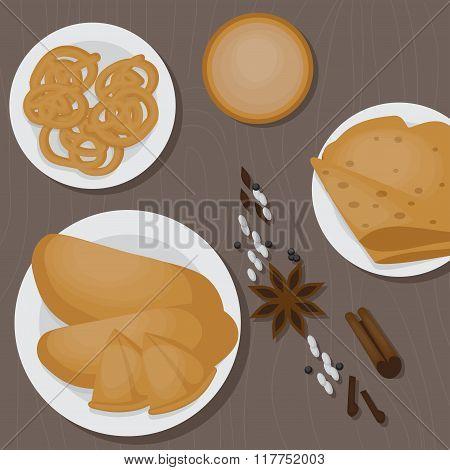 Vedic Indian cuisine, set of vegetarian healthy food top view