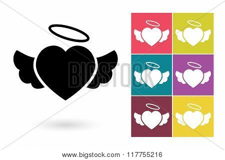 Heart icon or heart pictogram