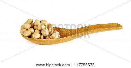 garbanzo chickpea closeup isolated on white background