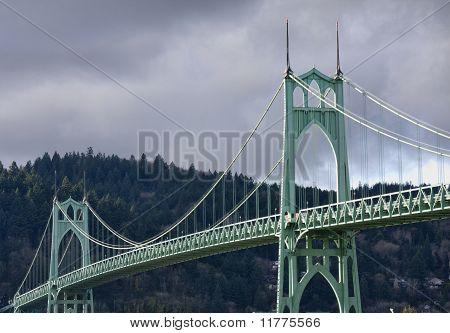 Beautiful Image of Saint John's Bridge in Portland Oregon. poster