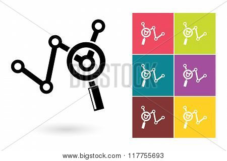 Analytics vector icon or business analysis symbol