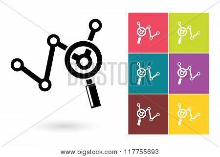 Analytics vector icon or business analysis symbol