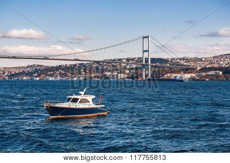 The Bosphorus Bridge Which Connects Europe And Asia, Istanbul