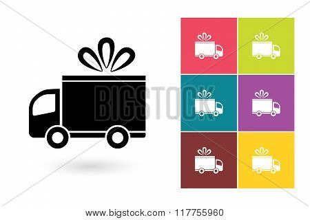 Delivery vector icon or delivery symbol