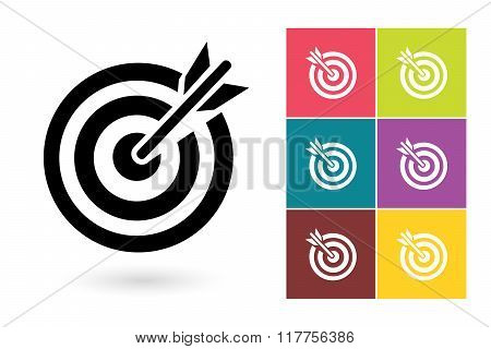 Target vector icon or target symbol
