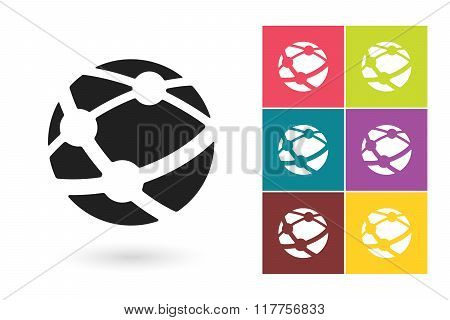 Network vector icon or social network symbol