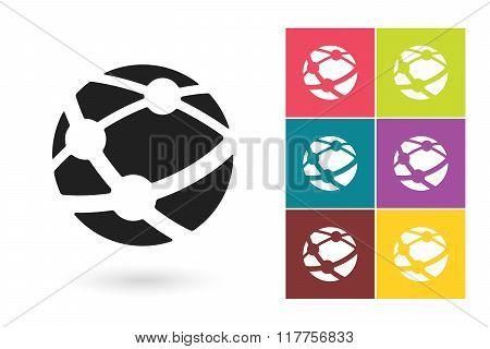 Network vector icon or social network symbol