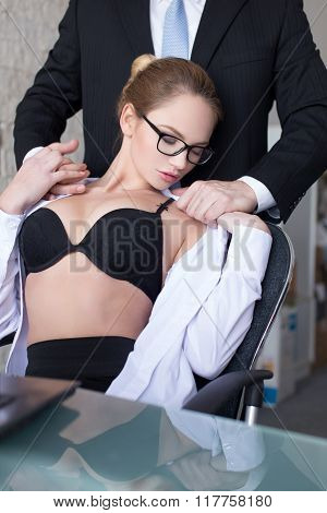Boss Undressing Secretary