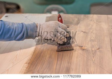 Paint Brush Staining