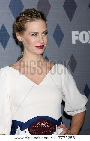LOS ANGELES - JAN 15:  January Jones at the FOX Winter TCA 2016 All-Star Party at the Langham Huntington Hotel on January 15, 2016 in Pasadena, CA