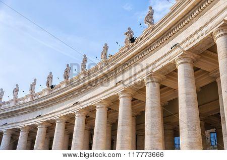 Rome Saint Peters Colonnade