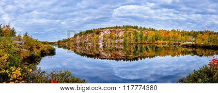 View of Laurentian Lake Conservation Area in Ontarion Canada poster