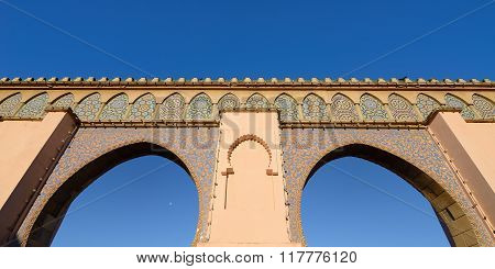 Main gate of medina wall door Meknes Morocco poster