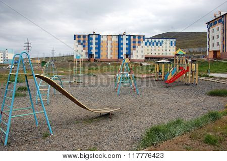Playground At Arctic Town Area