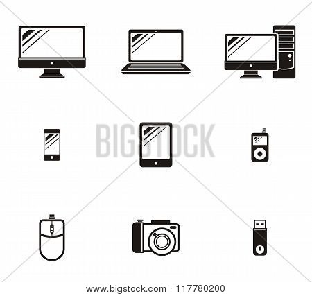 Set of Device Icon Design Flat