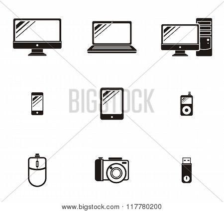 Set of Device Icon Design Flat
