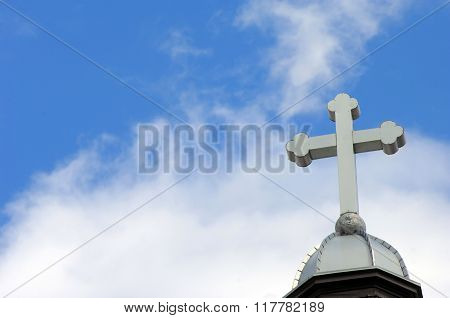 Blue Sky And Cross