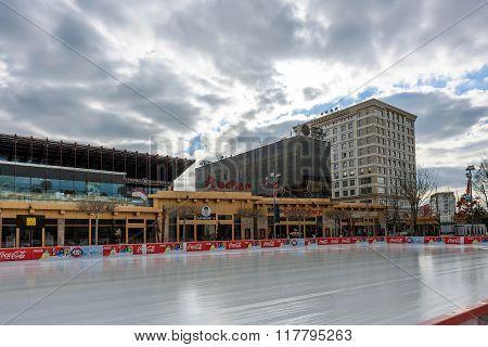 IASI, ROMANIA - FEBRUARY 2016: Beautiful rink business center in Iasi city, Romania