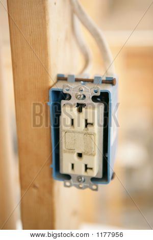 Electrical Receptacle Closeup