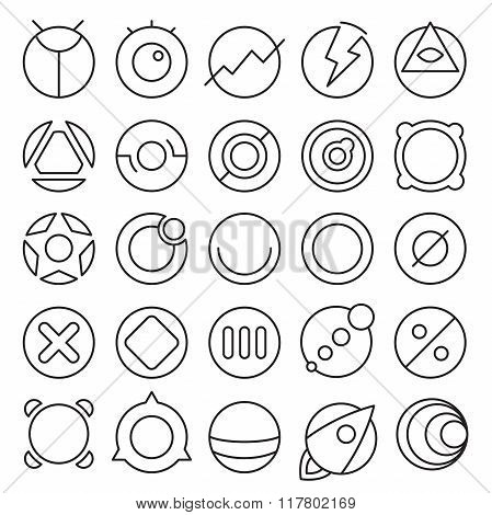 Round Experimental Icons