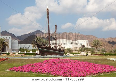 Sohar Boat In Muscat, Sultanate Of Oman