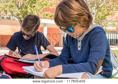 Portrait Of A Boy In School Campus