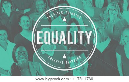Equality Fair Parity Respect Balance Equal Fairness Concept poster